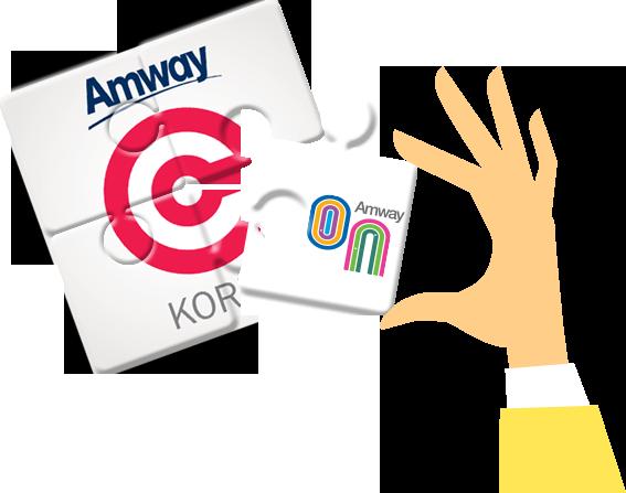 암웨이 센트럴 앱 + 암웨온 앱 아이콘 일러스트