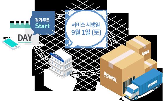 정기주문 시작, 서비스 시행일 9월 1일(토)